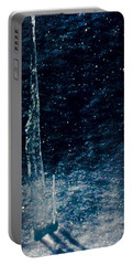 The Tower Of Ice Shadows Portable Battery Charger by Jennifer Lake