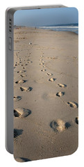The Trails Of Footprints - Jersey Shore Portable Battery Charger