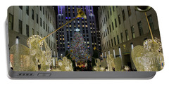 The Tree At Rockefeller Plaza Portable Battery Charger