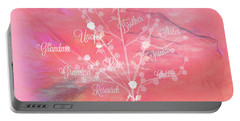 The Tree Of Life, Dedicated To Cancer Research Portable Battery Charger by Sherri's Of Palm Springs