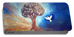 Portable Battery Charger featuring the painting The Tree by Winsome Gunning