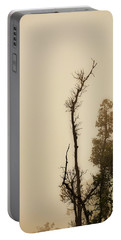 The Trees Against The Mist Portable Battery Charger by Rajiv Chopra