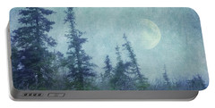 The Trees And The Moon Portable Battery Charger