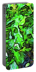 The Tropical Green Leaves With The Wings Portable Battery Charger