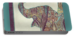 The Trumpet - Elephant Kashmir Patterned Boho Tribal Portable Battery Charger by Audrey Jeanne Roberts