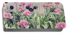 The Tulip Garden Portable Battery Charger by Jeannie Rhode