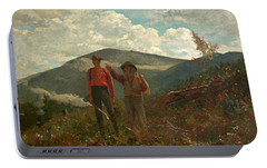 Portable Battery Charger featuring the painting The Two Guides by Winslow Homer