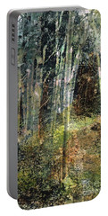 Portable Battery Charger featuring the painting The Underbrush by Frances Marino