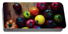 Portable Battery Charger featuring the painting The United Colors Of Tomatoes by Celestial Images