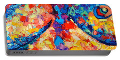 Portable Battery Charger featuring the painting The Unknown by Ana Maria Edulescu