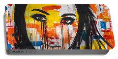 Portable Battery Charger featuring the painting The Unseen Emotions Of Her Innocence by Bruce Stanfield