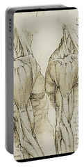 Portable Battery Charger featuring the painting The Upper Arm Muscles by James Christopher Hill
