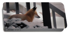 Portable Battery Charger featuring the digital art The Urban Fox by Ernie Echols