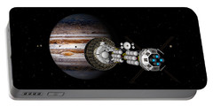 Portable Battery Charger featuring the digital art The Uss Savannah Nearing Jupiter by David Robinson