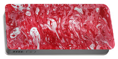 Portable Battery Charger featuring the painting The Valentine's Day Massacre by Robbie Masso