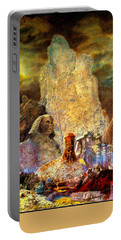 Portable Battery Charger featuring the painting The Valley Of Sphinks by Henryk Gorecki