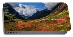 The Valley Of Three Sisters. Glencoe. Scotland Portable Battery Charger