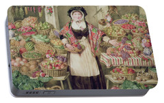 The Vegetable Stall  Portable Battery Charger by Thomas Frank Heaphy