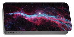 Portable Battery Charger featuring the photograph The Veil Nebula by Nasa