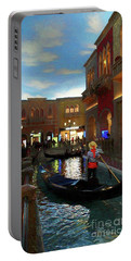 Portable Battery Charger featuring the photograph The Venetian by John Kolenberg