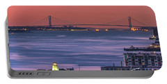 The Verrazano Bridge At Sunrise Portable Battery Charger