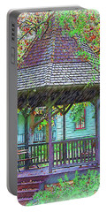 The Victorian Gazebo Sketched Portable Battery Charger by Kirt Tisdale