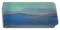 The View From Horn Head Portable Battery Charger by Stephanie Moore