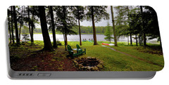 Portable Battery Charger featuring the photograph The View From Northern Comfort by David Patterson