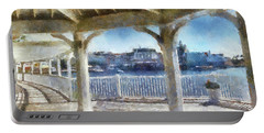 The View From The Boardwalk Gazebo Wdw 02 Photo Art Mp Portable Battery Charger