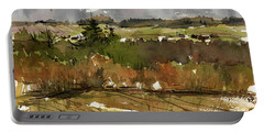 The View On Burlingame Road Portable Battery Charger by Judith Levins