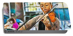 The Violinist Portable Battery Charger by Wayne Pascall