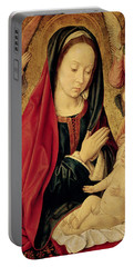 The Virgin And Child Adored By Angels  Portable Battery Charger