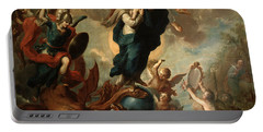 The Virgin Of The Apocalypse Portable Battery Charger by Miguel Cabrera