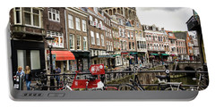 Portable Battery Charger featuring the photograph The Vismarkt In Utrecht by RicardMN Photography