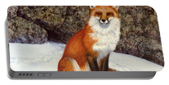 The Wait Red Fox Portable Battery Charger