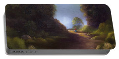 Portable Battery Charger featuring the painting The Walk Home by Marlene Book