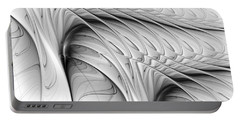 Portable Battery Charger featuring the digital art The Wall by Anastasiya Malakhova