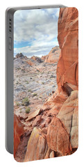 The Wall At Valley Of Fire Portable Battery Charger