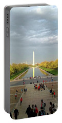 The Washington Monument And The Reflecting Pool Portable Battery Charger