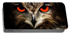 The Watcher - Owl Digital Painting Portable Battery Charger
