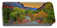 The Watchman And The Virgin River Portable Battery Charger