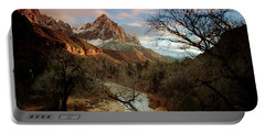 Portable Battery Charger featuring the photograph The Watchman At Sunset by Daniel Woodrum