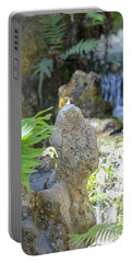 Portable Battery Charger featuring the photograph The Water And Rock Spot by Raphael Lopez