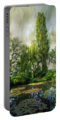 The Water Garden Portable Battery Charger by John Rivera