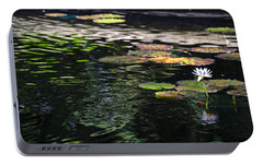 Portable Battery Charger featuring the photograph The Water Lily by Cendrine Marrouat