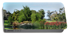 Portable Battery Charger featuring the photograph The Water On Number One Santa Maria Country Club by Barbara Snyder