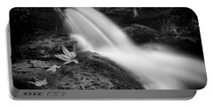 Portable Battery Charger featuring the photograph The Waterfall In Black And White  by Saija Lehtonen
