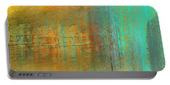 Portable Battery Charger featuring the digital art The Waterfall by Jessica Wright