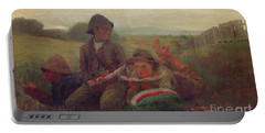 The Watermelon Boys Portable Battery Charger by Winslow Homer