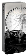 The Wheel Black And White Portable Battery Charger